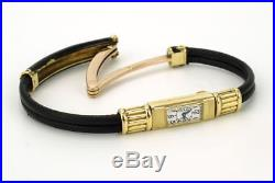 Rare Art Deco 18k gold Vintage Cartier 104 Duoplan Bagette small watch bracelet