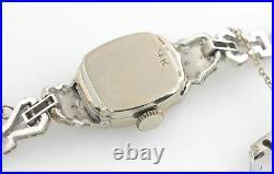 Rare Hamilton 14K Diamond Watch WG Gold 3/4 Carat Cocktail Estate Art Deco 6