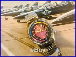 Rare Vintage Auto 21J Orient SK Diver 1970s All Orig+SS Bracelet NOS- SUPER DIAL