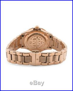 Roberto Cavalli by Franck Muller Women's LOGO DIAL Diamonds Gold IP Swiss Watch