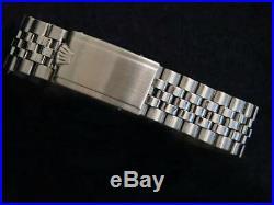 Rolex Datejust Stainless Steel 18K White Gold Watch Silver Jubilee Bracelet 1601