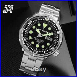 San Martin Tuna SBBN015 Professional Diver Watch Men 300m Waterproof Metal Band