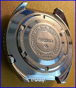 Seiko 6119 7170 5 Sports Rare 1969 Proof Silver Rally Automatic Stelux Bracelet