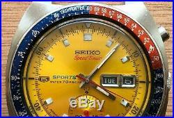 Seiko 6139 6000 RARE Speedtimer 6139A 21J Vintage Chronograph H-link bracelet