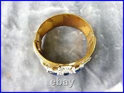Striking Art Deco Period Mcclelland Barclay Jeweled Cuff Bracelet