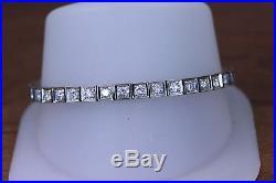 Stunning 14K Art Deco Style 4ctw Diamond Tennis Bracelet- 14074