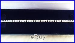 Stunning 18ct white gold art deco 3.15ct old cut diamond tennis bracelet