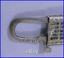Stunning Antique Art Deco OSTBY BARTON 14K White Gold Filigree Sapphire Bracelet