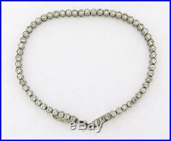 Stunning Art Deco 2.85 Carat Diamonds Platinum Tennis Bracelet