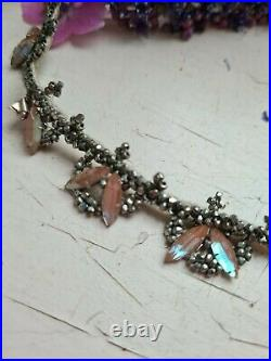 Super RARE SAPHIRET Art Deco Headpiece /Necklace