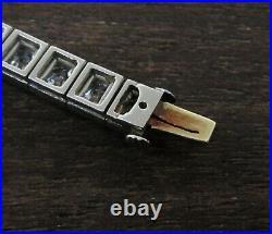 TIFFANY & CO. 1920's-1930's Art Deco Platinum Diamond Tennis Bracelet