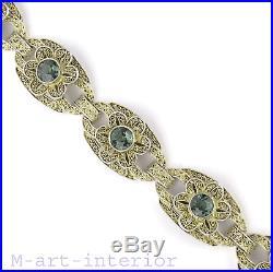 Theodor Fahrner Armband, Silber Turmalin Silver Bracelet, Art Deco Pforzheim 1930