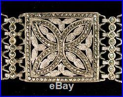 Theodor Fahrner Rare Art Deco Sterling Silver & Marcasite Bracelet