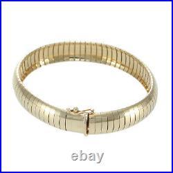 Tiffany & Co. Herringbone Chain Bracelet 14k Yellow Gold Vintage Art Deco Estate