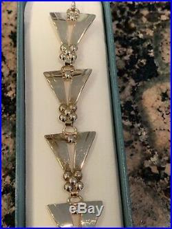 Tiffany & Co Retro Art Deco 14K Gold Bracelet RARE with Original Box Numbered