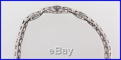 VINTAGE ART DECO PLATINUM 3CT DIAMOND SET BRACELET 20.3g VAL $14565