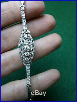 Valentines wedding Art Deco Diamond gold Bracelet C1920-30s tennis bracelet 6