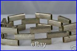 Vintage 1930's Art Deco Sterling Silver Wide Bracelet