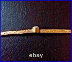 Vintage ART DECO European-Cut DIAMOND Solitaire & 14K Gold Bracelet