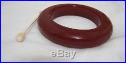 Vintage Art Deco Cherry Red Amber Bakelite TESTED Bangle Bracelet 57gr