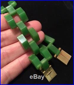 Vintage Art Deco Jewellery Fabulous And Rare Bakelite Chunky Gate Link Bracelet