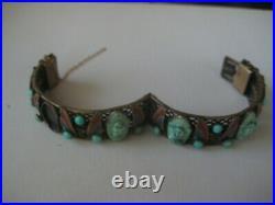 Vintage Art Deco Neiger Brothers peking glass Bracelet Egyptian Revival
