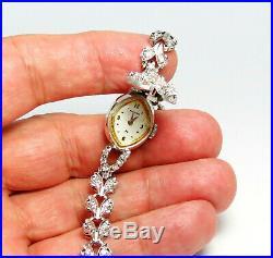 Vintage, Deco, Hamilton 14k Gold, 1.7ctw Diamond Peek A Boo Ladie's Watch