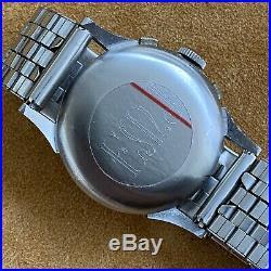 Vintage Gallet Chronograph Wristwatch with Valjoux 72 & vintage bracelet RARE