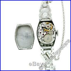 Vintage Hamilton 2.60ct Diamond Platinum 19j Watch Cal. 756 with 14k Gold Bracelet