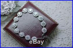 Vintage Jewellery bracelet with White Sapphires Antique Deco Jewelry