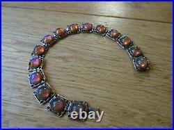Vintage Rare Dragons Breath saphiret style cabochon bracelet Art Deco