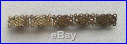 Vintage Serpent Snake Bracelet Brass-Tone Resin Art Deco Nouveau Gothic 7.5