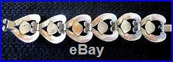 Vintage Taxco 925 Silver Art Deco Classic Design Bracelet Jewelry
