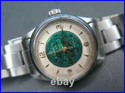 Vintage Tudor By rolex 7903 Art Deco Genuine Enamel Dial w Band & Paper 1950s