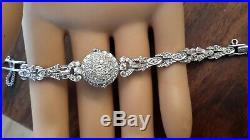 Vintage art deco Platinum Diamond Ladies movado Fliptop bracelet Watch