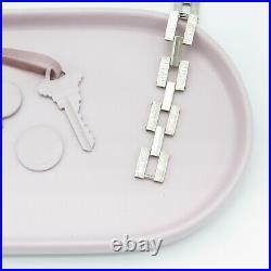 Vtg 1930s Art Deco Sterling Silver Stamped Flower Gate Bracelet