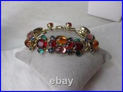 Weiss Tutti Frutti Bracelet Earrings Parure Fruit Salad Rare Color Art Deco