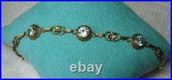 Zircon Bracelet Art Deco Hollywood Regency 14K Gold Antique Mid-Century Wedding